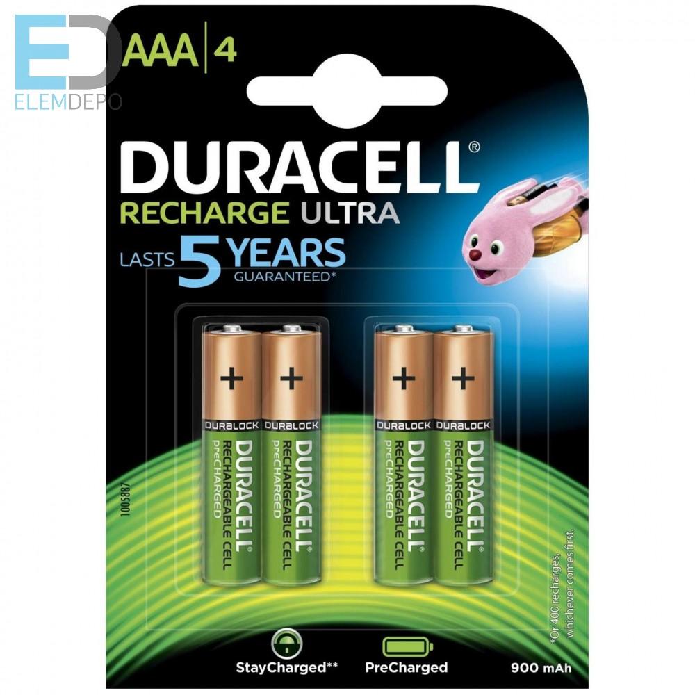 Duracell Recharge Ultra AAA akku 850 mAh Ready to use Precharged - Elemdepo